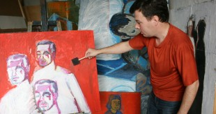 В мастерской художника. Павел Боркунов.