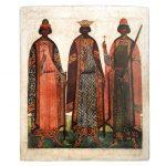 """Икона """"Борис и Глеб"""" XVI век"""