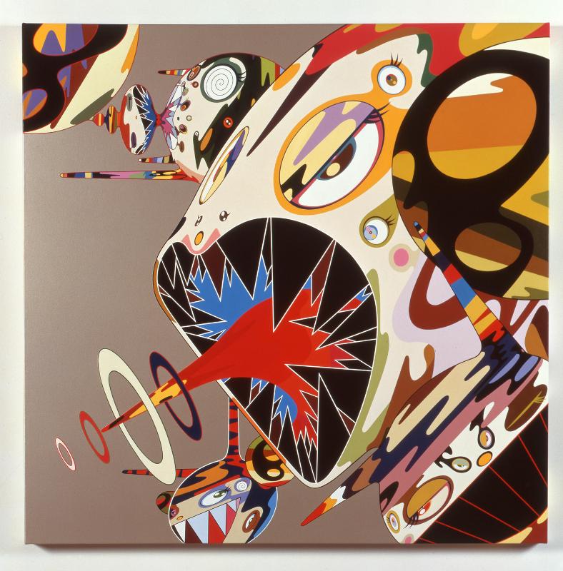 """Такаси Мураками """"Оммаж Фрэнсису Бэкону (Этюд к портрету Изабель Росторн)"""" 2002"""