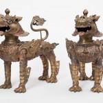 Львы-охранители. Непал, 1960-е