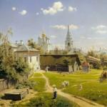 """Василий Поленов """"Московский дворик"""" 1878"""