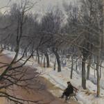 """В.И. Суриков """"Зубовский бульвар зимой"""" 1882-1883"""
