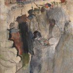 """Александр Лабас """"Уличный бой"""" 1928"""