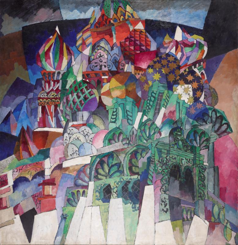 """Аристарх Лентулов """"Храм Василия Блаженного"""" 1913"""