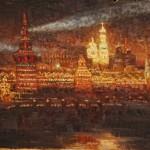 """В.И. Суриков """"Иллюминация Московского Кремля"""" 1883"""