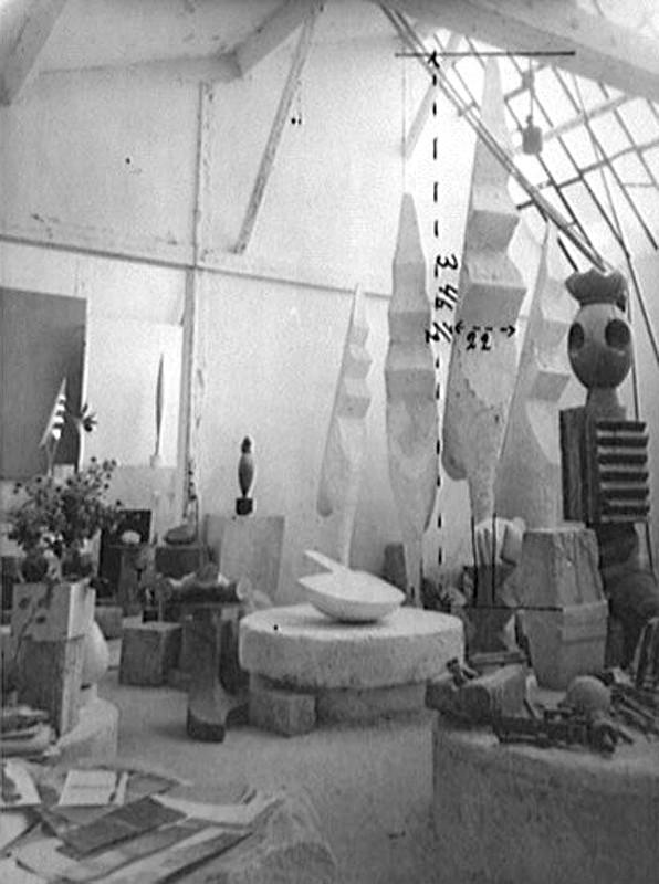 "Константин Бранкузи ""Вид мастерской"" Фотография 1945-1946"
