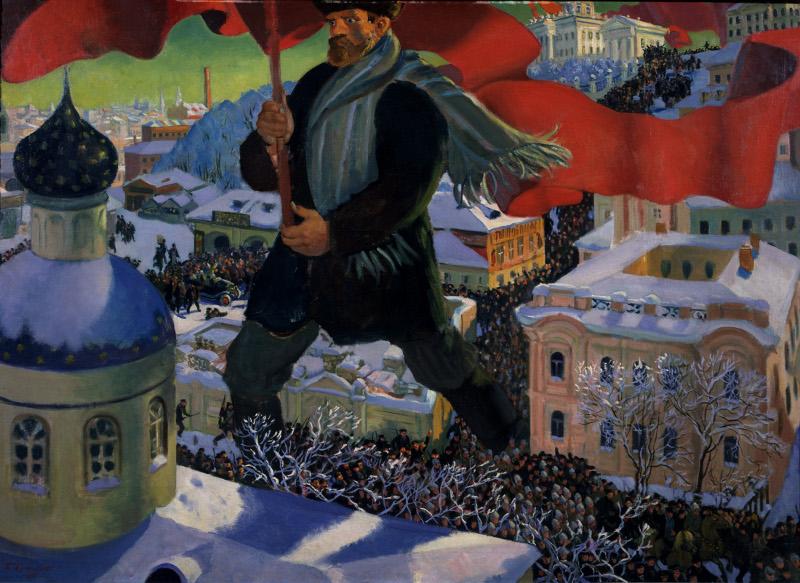 """Кустодиев Б.М. """"Большевик"""" 1920"""