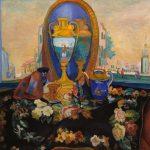 """Кузнецов П.В. """"Натюрморт с зеркалом"""" 1917"""
