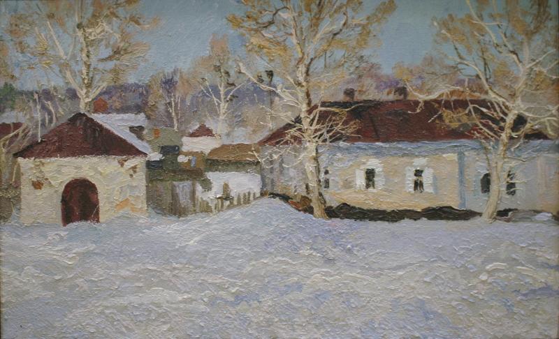 """В.З. Пурыгин """"Тёплый день. Зима"""" 1968"""