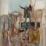 "Александр Лабас ""Приезд Ленина в Петроград"" 1930"