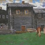 "В.Ф. Стожаров ""Село Важгорт"" 1965"
