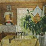 """С.А. Тутунов """"Деревенский интерьер"""" 1968"""