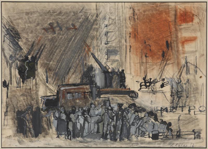 "Александр Лабас ""Противовоздушная оборона"" 1932"