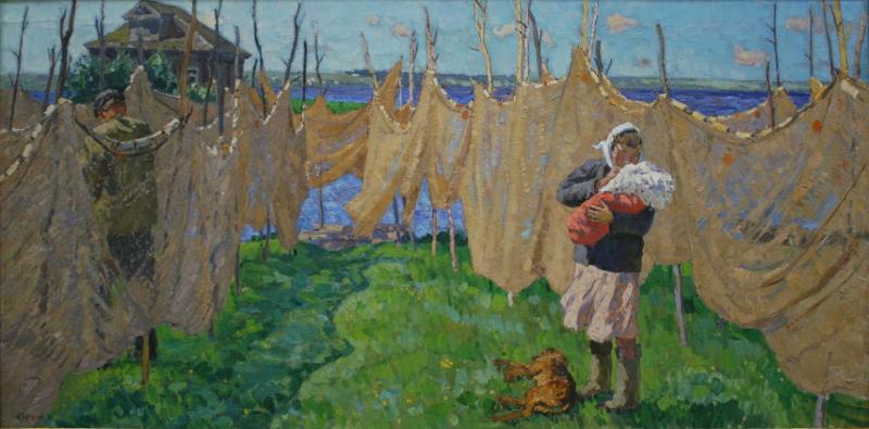 """С.А. Тутунов """"Семья рыбака"""" 1962"""