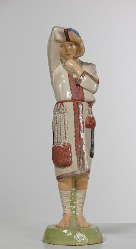 """Н.А. Андреев """"Девушка в мордовском костюме, закрывающая рукой лицо от солнца"""" 1912"""