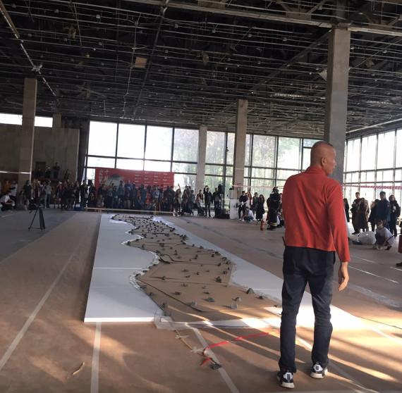 Цай Гоцян создал пороховую картину для выставки в ГМИИ имени А. С. Пушкина.