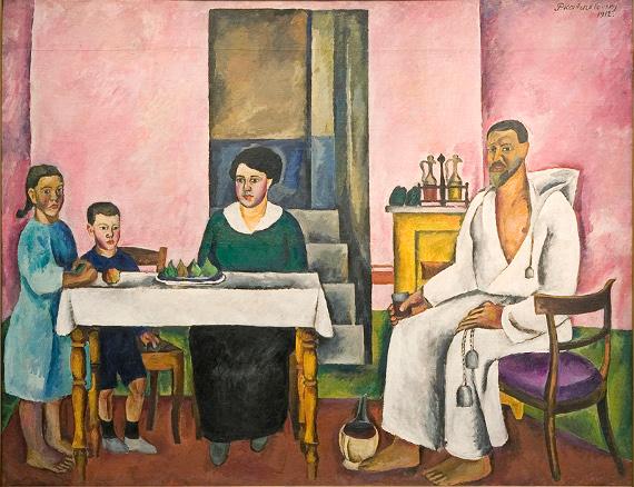Пётр Кончаловский «Семейный портрет (Сиенский портрет)» 1912 ГТГ