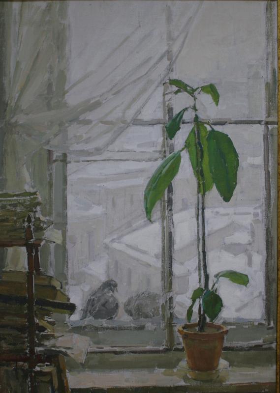 "К.Ш. Фридман ""Зимнее окно"" 1956"