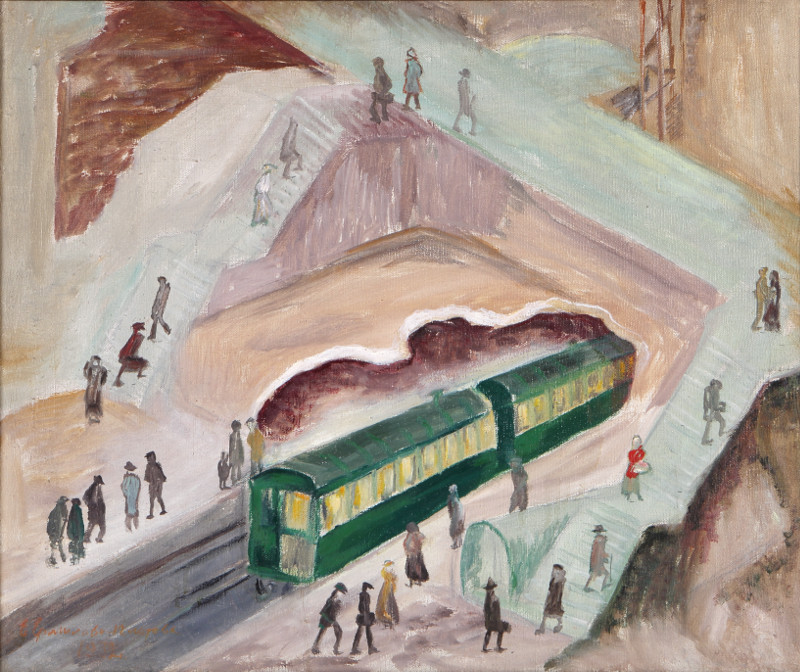 """Ефросинья Ермилова-Платова """"На станции"""" 1932"""