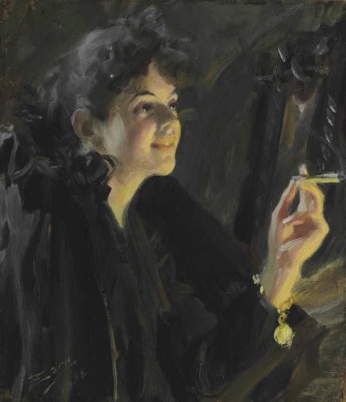 Андерс Цорн «Девушка с сигаретой» 1892