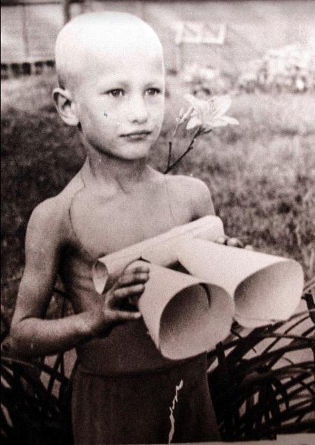 Александр Данилов в детстве