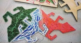 Открытие мозаичного панно «Ящерицы Эшера».