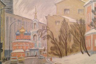 Уголки старой Москвы в эстампах Татьяны Дехтеревой.