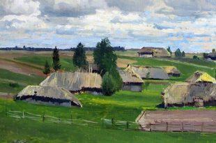 Русский пейзаж из собрания Астраханской картинной галереи.