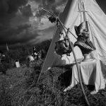 Алебастровый походный бюст Наполеона у палатки рядового Нуаро