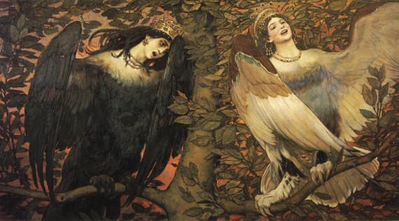 В.М. Васнецов «Сирин и Алконост» 1896 Собрание Государственной Третьяковской галереи