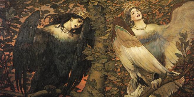Песня вещих птиц. Выставка картины В.М. Васнецова «Сирин и Алконост. Песнь радости и печали».