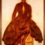 """Василий Шухаев """"Портрет Саломеи Андрониковой-Гальперн"""" 1921"""