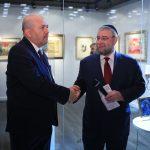 Посол государства Израиль в Российской Федерации Гарри Корен и Главный раввин Москвы Пинхас Гольдшмидт