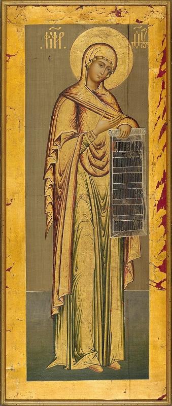 """Икона """"Богоматерь"""" из Походного иконостаса Царя Алексея Михайловича. Около 1672"""