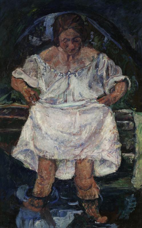 """Хаим Сутин """"Женщина, входящая в воду"""" Около 1931"""