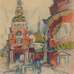 """А.В. Куприн """"Фили. Кутузовская церковь"""" 1921"""