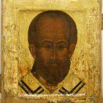 Икона Оплечный образ святителя Николая Чудотворца, 16 век