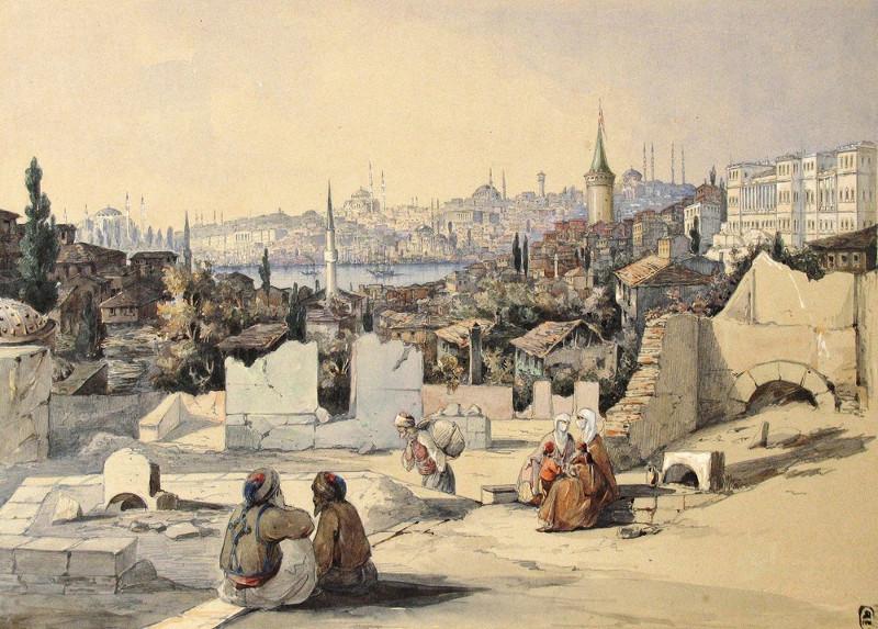 """А. Корсаков """"Константинополь"""" 1848"""