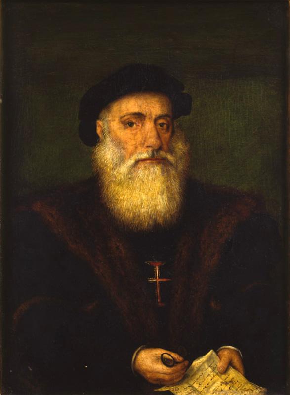 """Неизвестный художник """"Портрет рыцаря Ордена Христа (Васко да Гама?)"""" Первая половина XVI века"""
