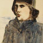 "Александр Лабас ""Мужской портрет"" 1938"