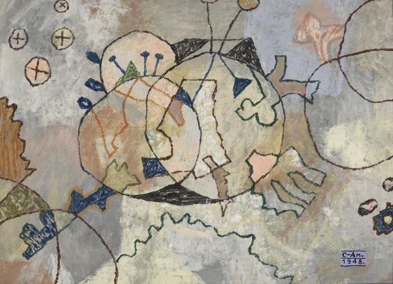 """Федор Семенов-Амурский """"Декоративный мотив"""" 1948"""