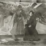 "Борис Кустодиев ""Юлик у моей конкурсной картинки"" 1903"