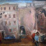 """Анатолий Слепышев """"Московский дворик"""" 1977"""
