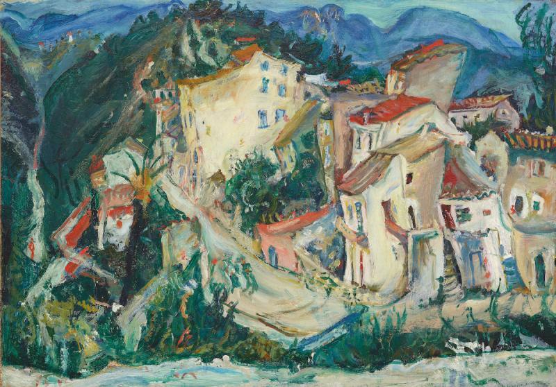 """Хаим Сутин """"Пейзаж Кань"""" 1924–1925"""