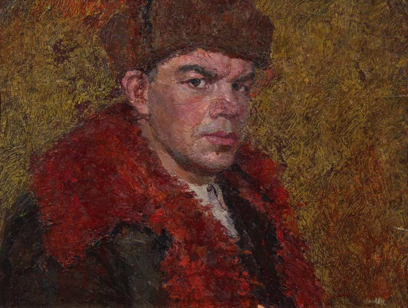 """Владимир Юкин """"Автопортрет"""" 1958"""