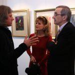 Основатель Altmans Gallery Егор Альтман и Директор Французского института в Москве Оливье Гийом с супругой