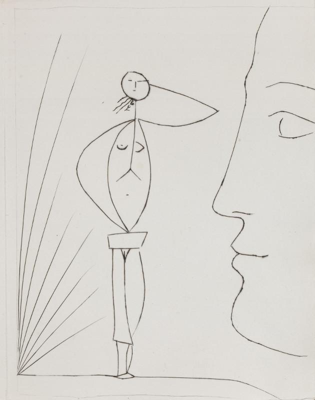 """Пабло Пикассо """"Иллюстрация из издания """"Морис Тоска """"Шесть фантастических сказок"""" 1953"""