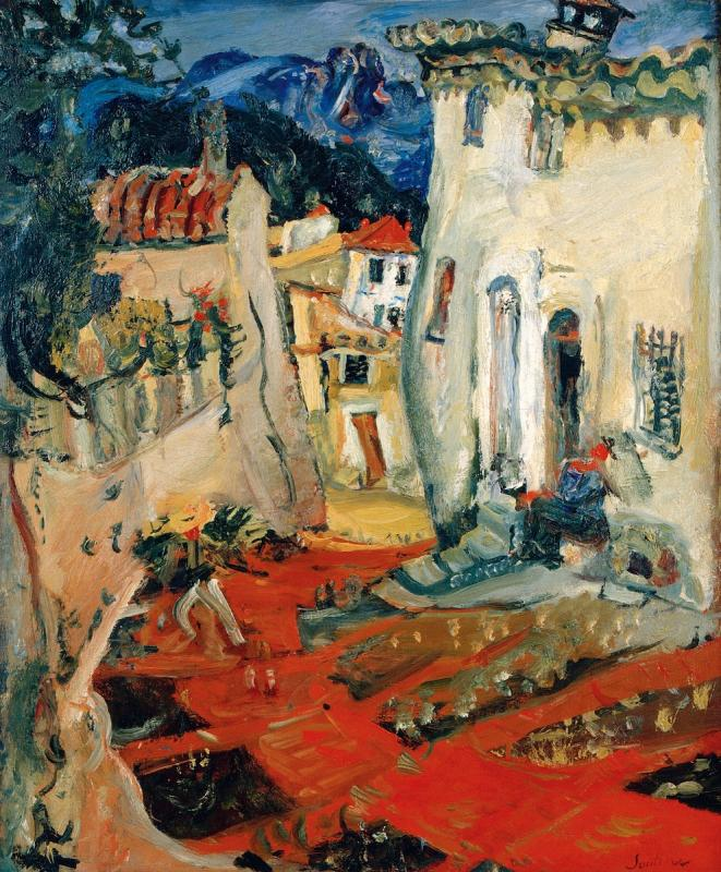 "Хаим Сутин ""Улица в Кань"" 1924"