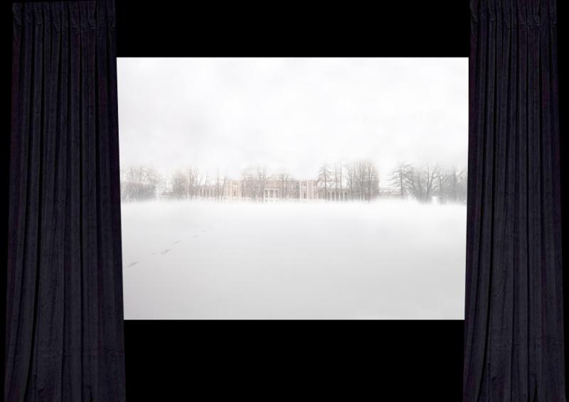 """Евгения Буравлева """"Эскиз картины """"Большой дворец в Царицыно"""""""