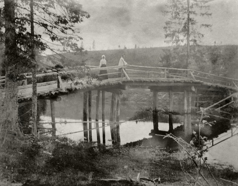 "Борис Кустодиев ""Мосту через Медозу"" 1903"